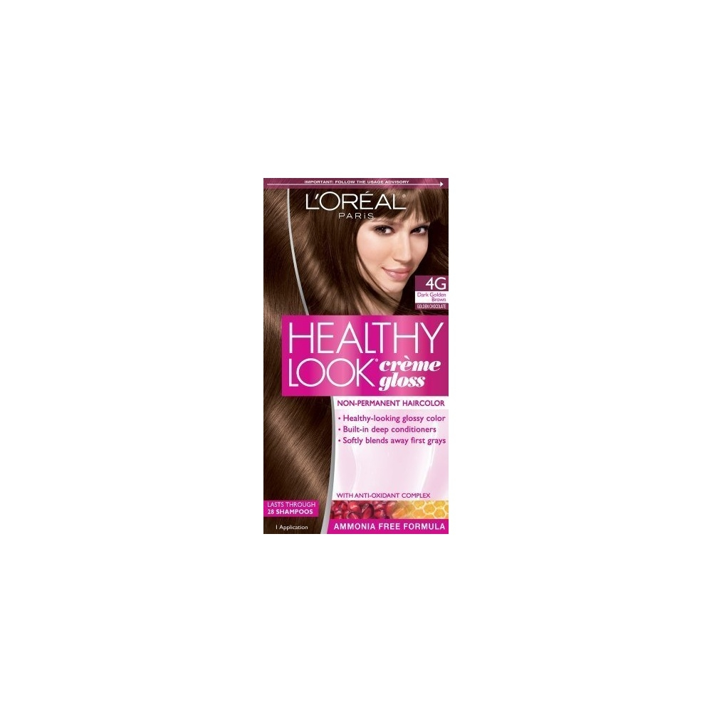 Loreal Paris Healthy Look Hair Color Creme Gloss Color Dark Golden