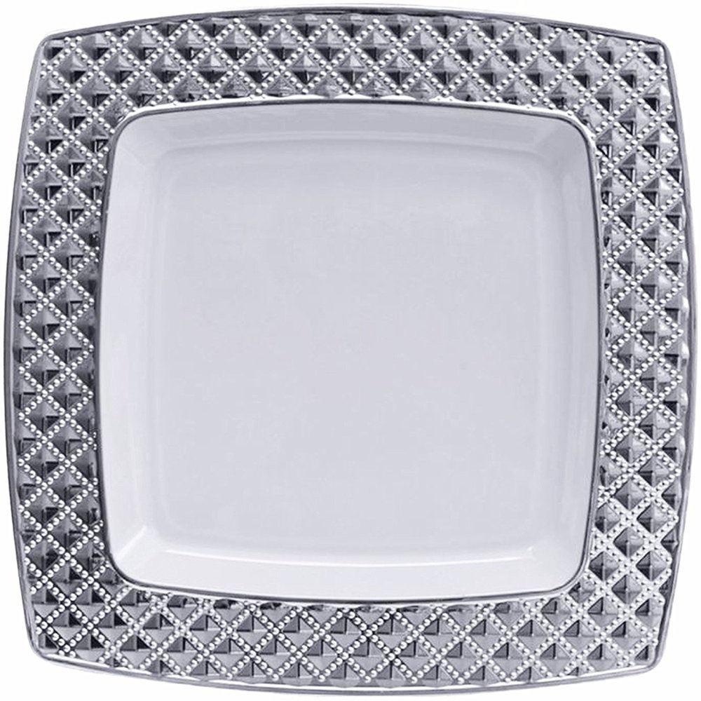 Decor Elegant Disposable Dinner Plate Diamond Collection 10.75 inches Clear and Silver 10 Count  sc 1 st  SoapSplash & Decor Elegant Disposable Dinner Plate Diamond Collection 10.75 ...