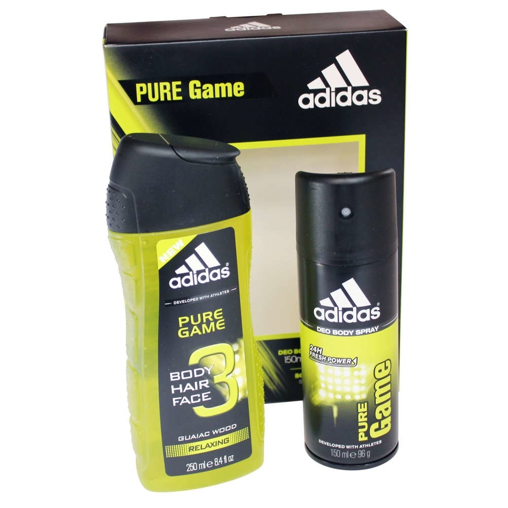 low priced 1dfb9 1d664 Adidas Pure Game 2 Piece Gift Set, 150 ML Deodorant Body Spray, 250 ML 3in1  Shower Gel - SoapSplash - Buy Discounted Brand Name Household, Health and  Beauty ...