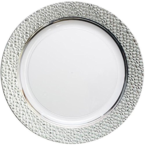 Decor Elegant Disposable Plates Dinner Plate Hammered Collection 10.25 Inches Clear and Silver... - SoapSplash - Buy Discounted Brand Name Household ...  sc 1 st  SoapSplash & Decor Elegant Disposable Plates Dinner Plate Hammered Collection ...