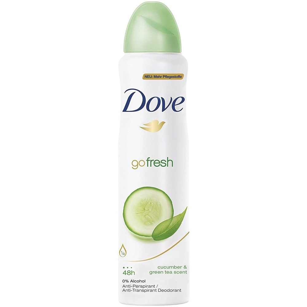 Dove Anti Perspirant Deodorant Body Spray Go Fresh Cucumber And Green Tea Scent 150ml Soapsplash Buy Discounted Brand Name Household Health And Beauty Products