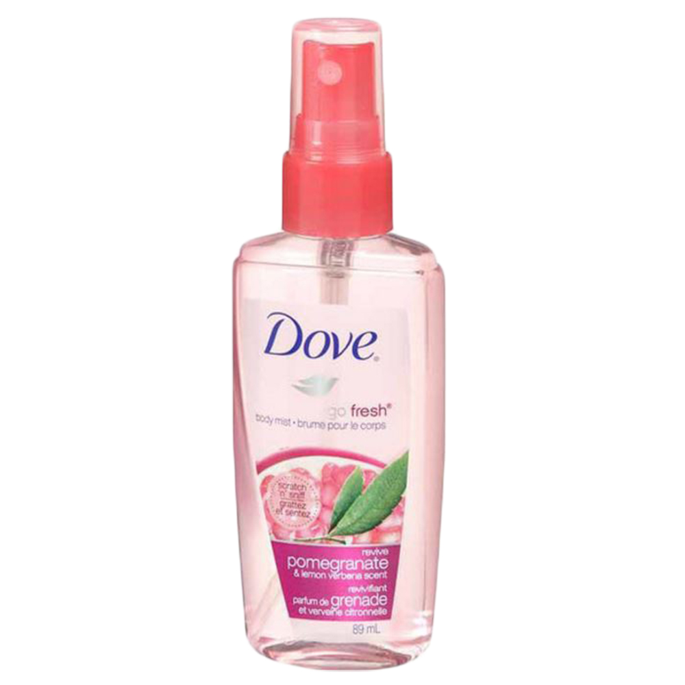 Dove Go Fresh Revive Body Mist Spray Pomegranate Lemon Verbena Scent 3 Ounce Soapsplash Buy Discounted Brand Name Household Health And Beauty Products