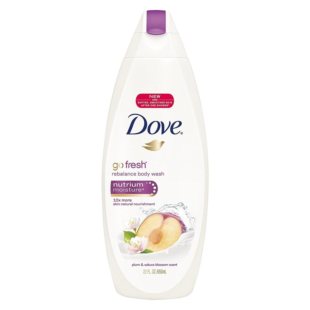 Dove Nutrium Moisture Go Fresh Rebalance Body Wash Plum Sakura Blossom Scent 22 Ounce Soapsplash Buy Discounted Brand Name Household Health And Beauty Products