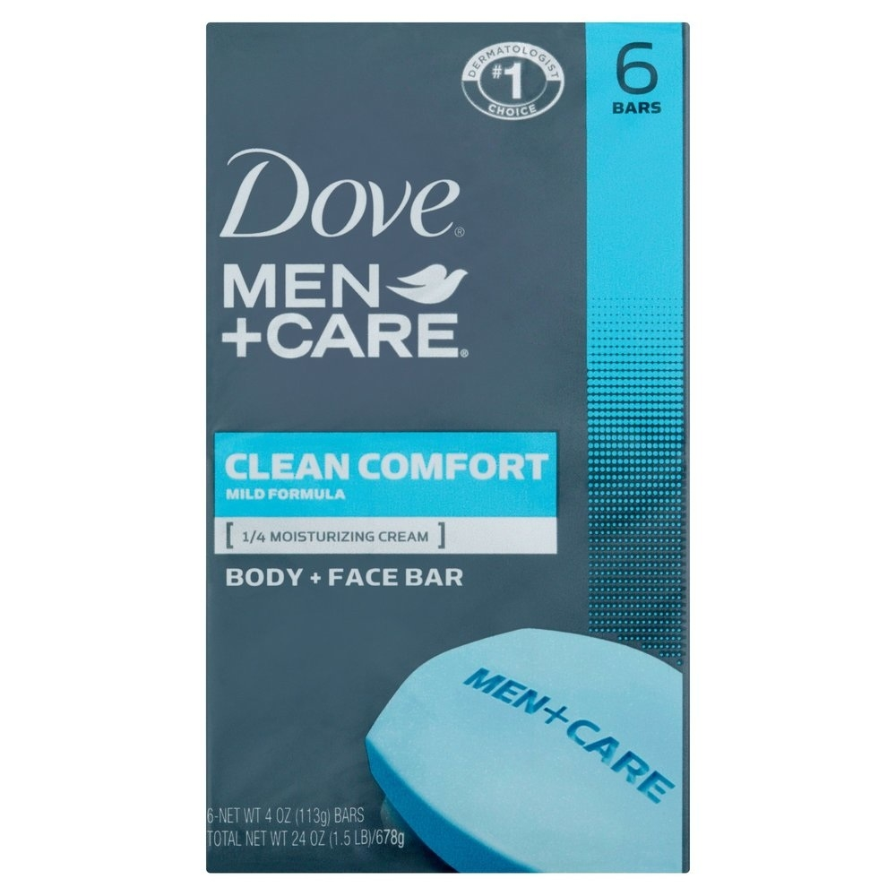 Dove Men Care Body And Face Bar Clean Comfort Mild Formula 4 Ounce 6 Pack Soapsplash Buy Discounted Brand Name Household Health And Beauty Products