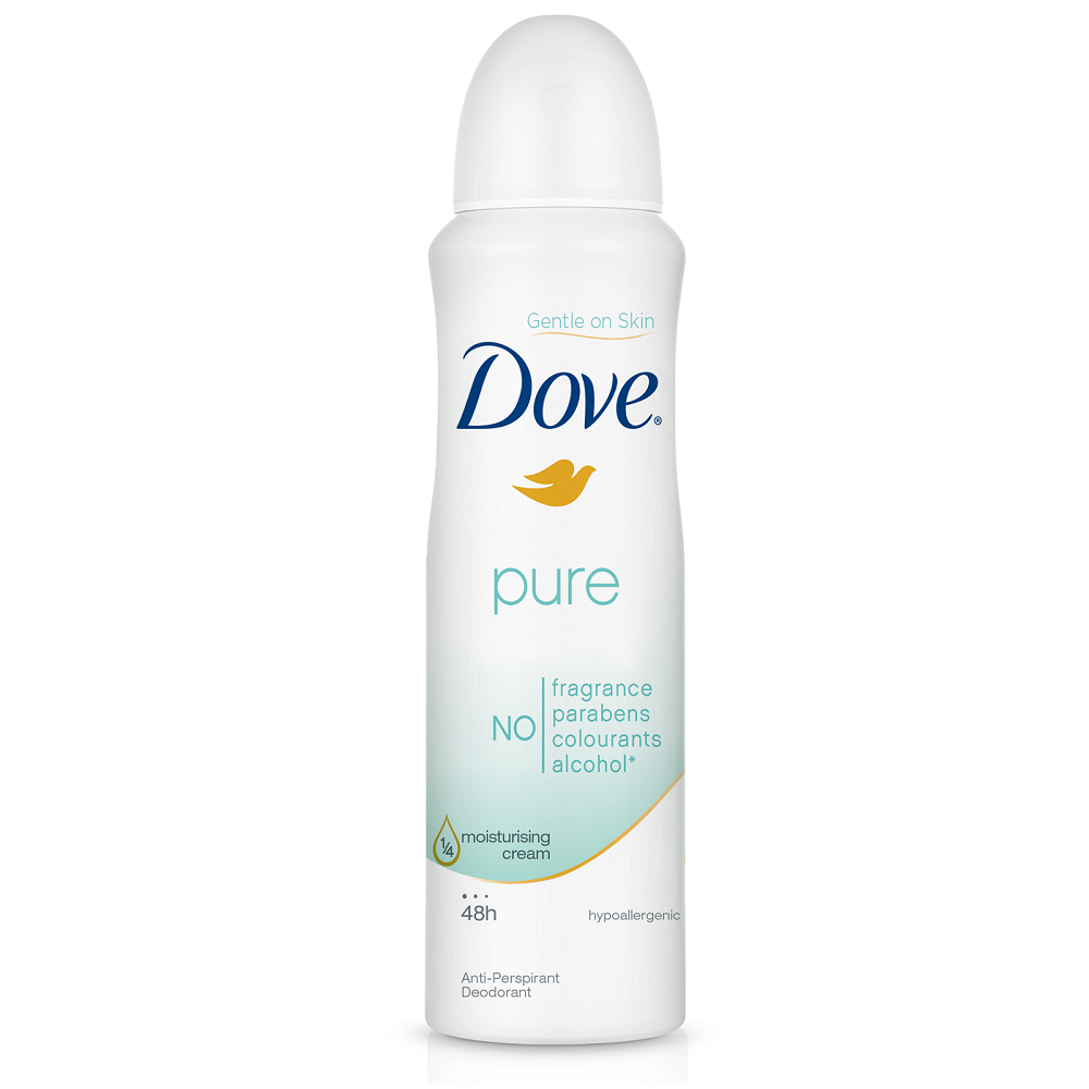 Dove Anti Perspirant Anti Transpirant Deodorant Body Spray Pure 150ml Soapsplash Buy Discounted Brand Name Household Health And Beauty Products