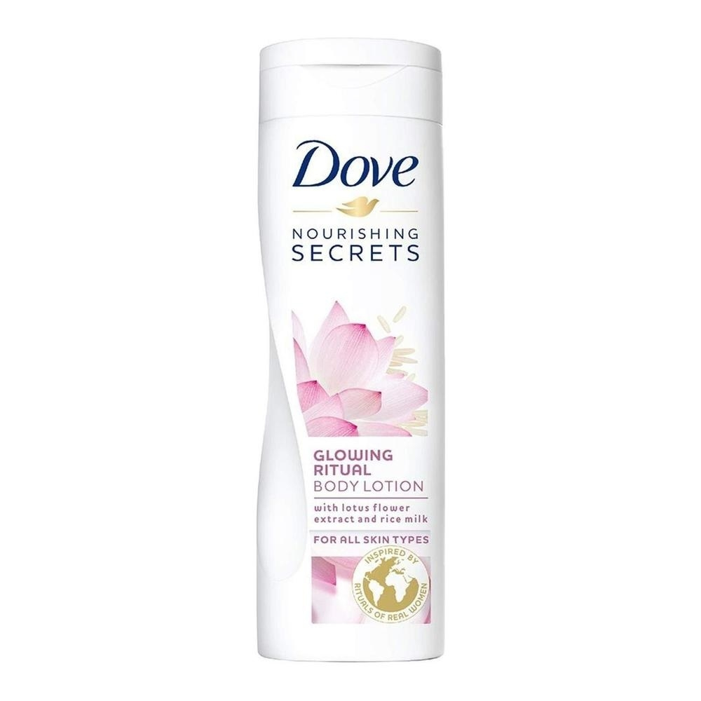 Dove Nourishing Secrets Glowing Body Lotion With Lotus Flower Extract And Rice Milk 400 Ml Soapsplash Buy Discounted Brand Name Household Health And Beauty Products