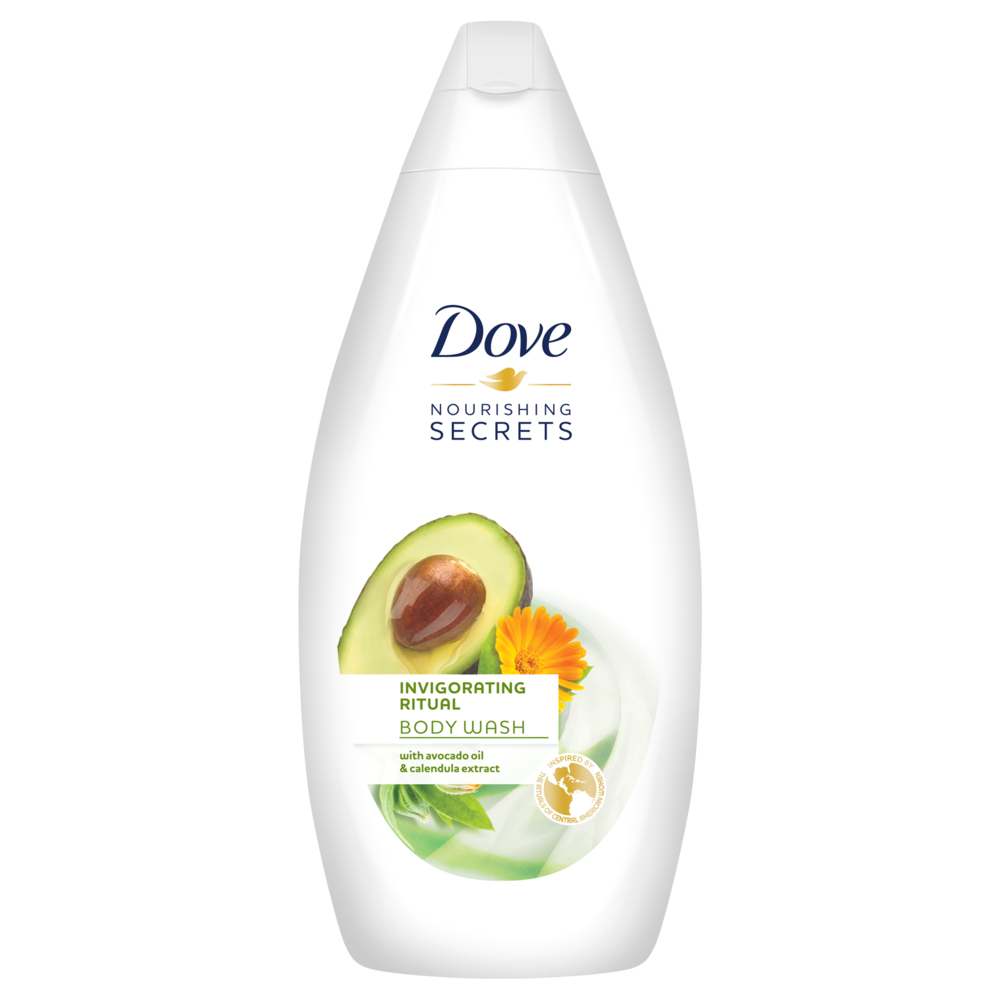 Dove Nourishing Secrets Invigorating Ritual Body Wash With Avocado Oil And Calendula Extract 500 Soapsplash Buy Discounted Brand Name Household Health And Beauty Products
