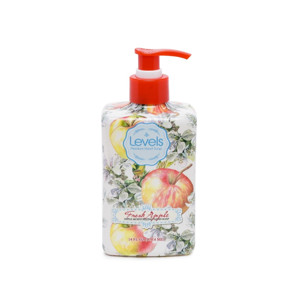 Levels Liquid Premium Moisturizing Hand Soap Pump, Fresh Apple, 14 Ounce