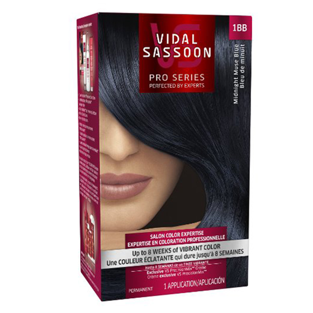 Vidal Sassoon Hair Color London Luxe 1bb Midnight Muse Blue Plus